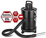 Aschesauger | Kaminsauger | Ofensauger | Grillsauger | Bausauger | Ascheschlucker | Kohlesauger | Staubsauger | 25L HEPA-Filter | Feuerfester Schlauch | 2000 Watt |
