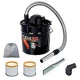 Aschesauger Elektro Cenerix 1200W–18L mit Doppelfilter, Saugdüse und Bürste mit Borsten