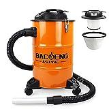 BACOENG Aschesauger mit zweistufigem Filtersystem, Kaminsauger 20L, 1200W